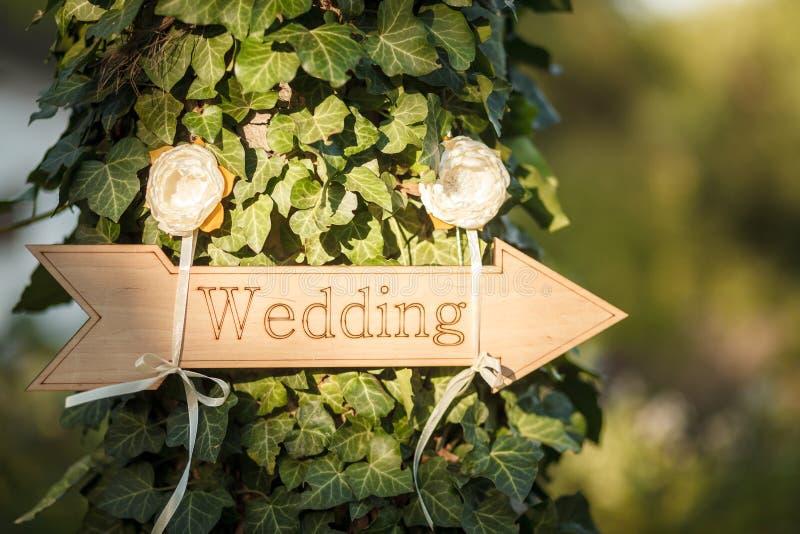 Decoração do casamento E imagens de stock royalty free