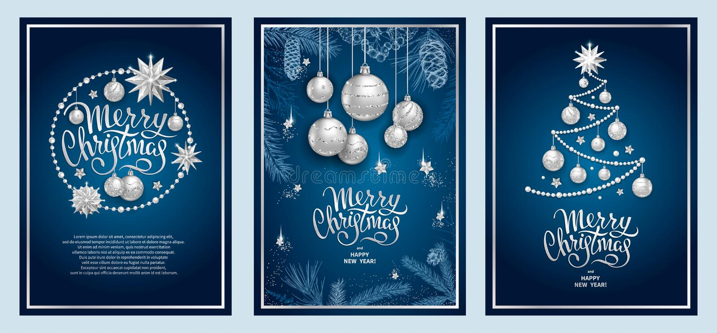 Decoração 2019 do Feliz Natal ilustração royalty free