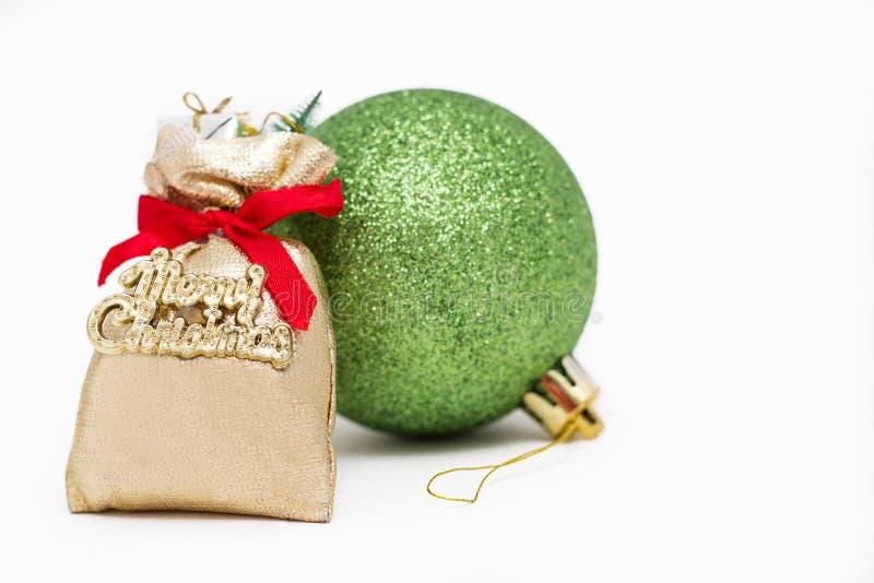 Decoração do Feliz Natal fotos de stock royalty free