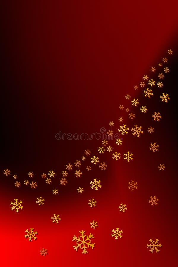 Decoração do floco de neve do Natal ilustração do vetor