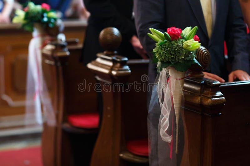 Decoração do florista da forma para casamento bonito surpreendente fotografia de stock