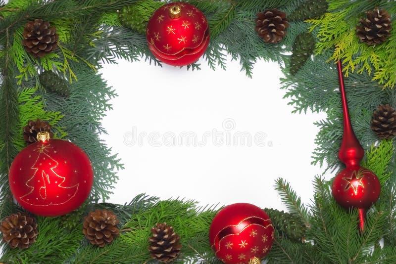 Decoração do frame do Natal fotografia de stock