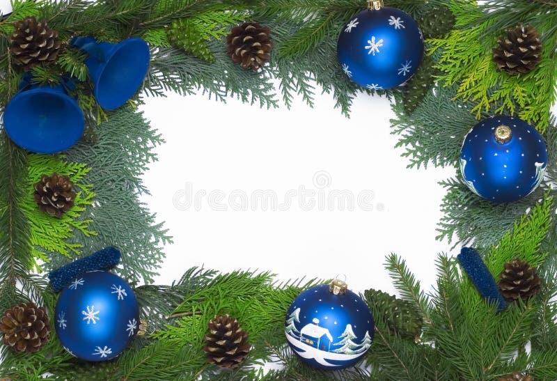 Decoração do frame do Natal fotos de stock royalty free