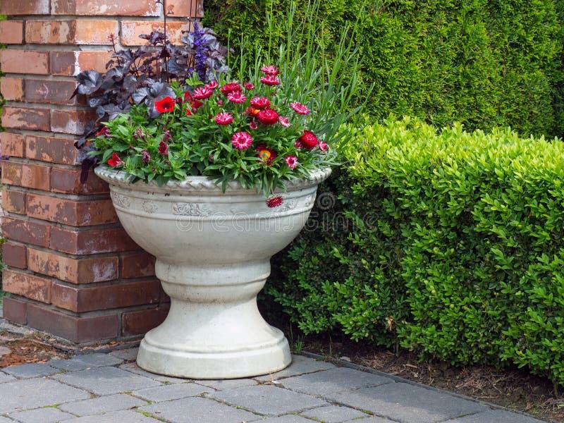 Decoração do jardim, um fragmento do jardim imagens de stock royalty free