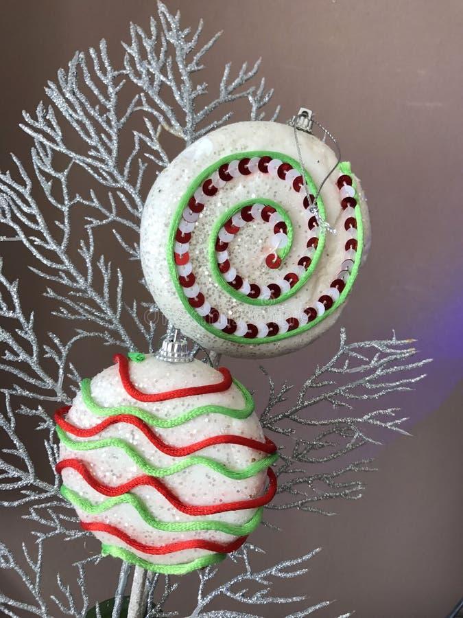 Decoração do lollypop do Natal foto de stock royalty free