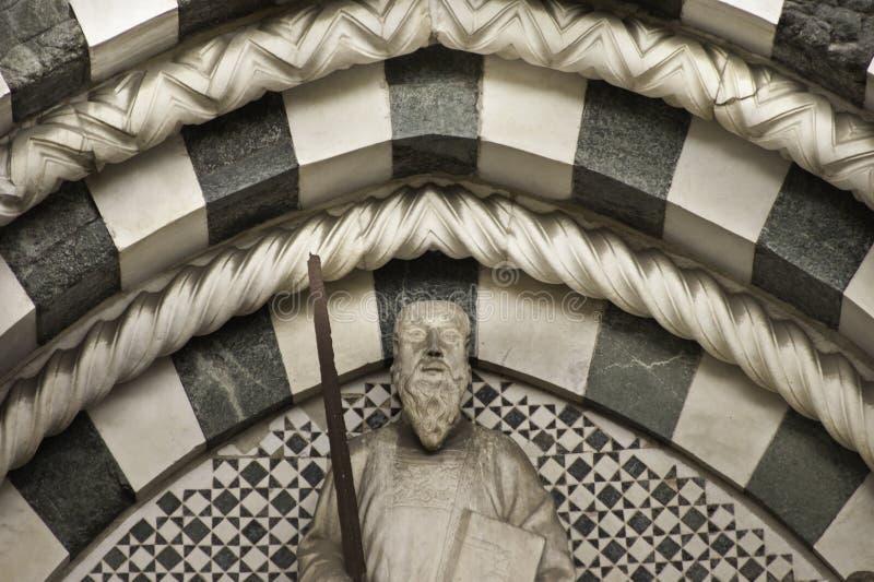 Decoração do mármore da catedral de San Zeno fotos de stock
