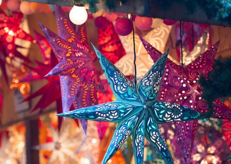 Decoração do mercado do Natal de Francoforte foto de stock royalty free