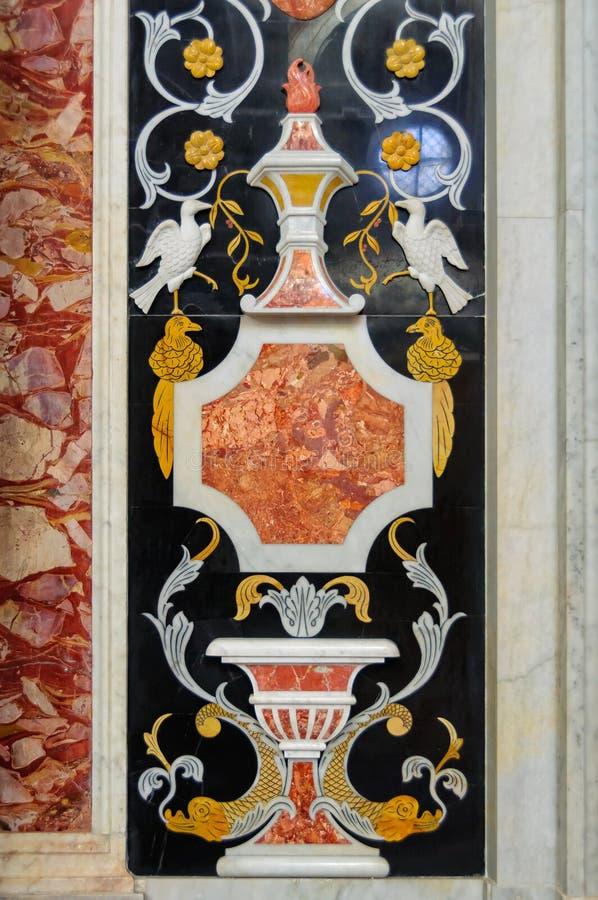 Decoração do mosaico - Palermo fotografia de stock