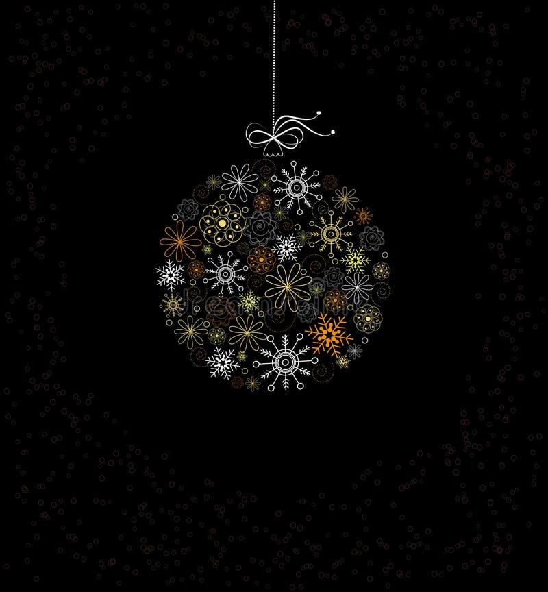 Decoração do Natal com bauble ilustração stock
