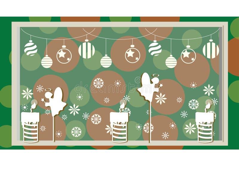 Decoração do Natal com e fundo fotos de stock