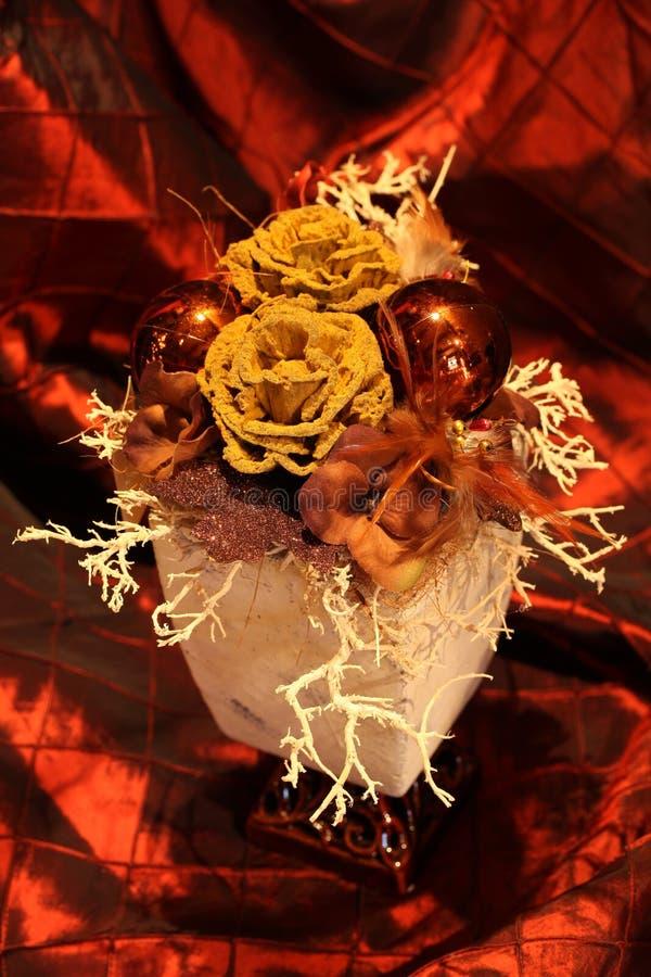 Decoração do Natal com ornamento marrons imagens de stock