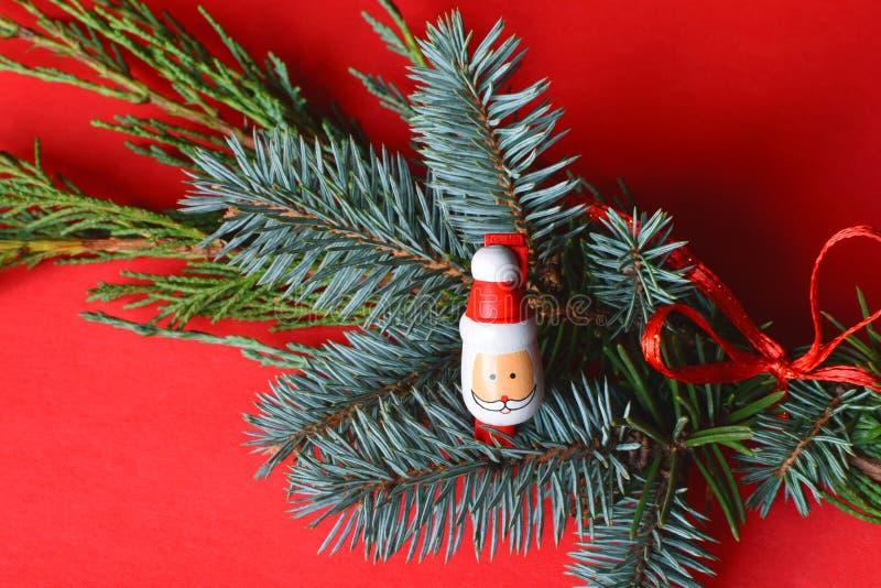 Decoração do Natal com Santa fotos de stock