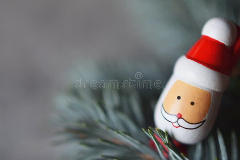Decoração do Natal com Santa fotos de stock royalty free