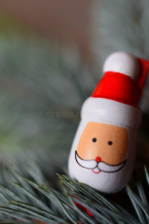Decoração do Natal com Santa foto de stock