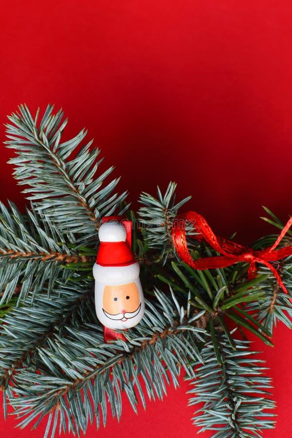 Decoração do Natal com Santa imagem de stock
