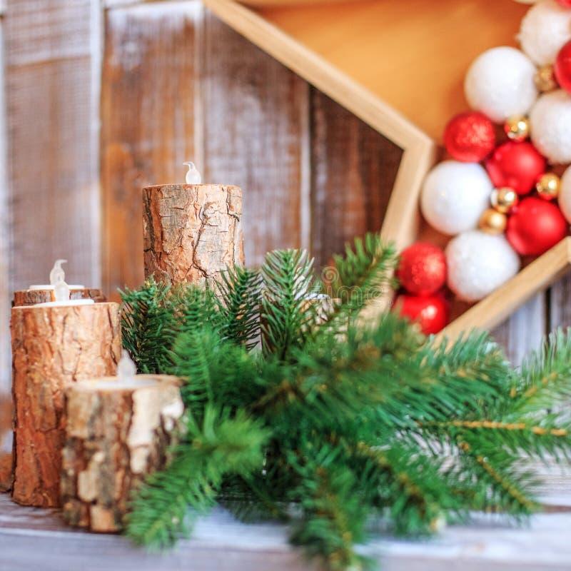 Decoração do Natal Conceito do Natal feliz, ano novo, feriado, imagem de stock
