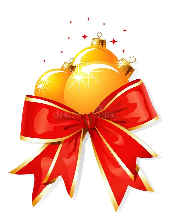 Decoração do Natal/curva e esferas/vetor ilustração do vetor