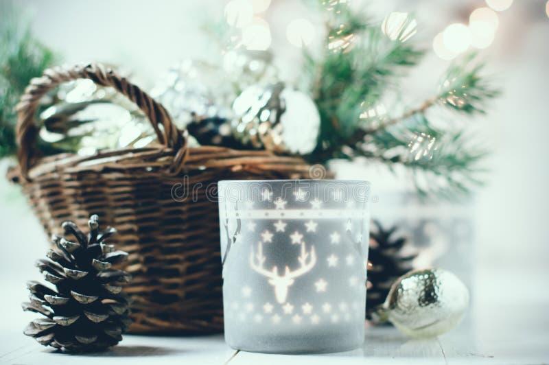 Decoração do Natal do vintage foto de stock