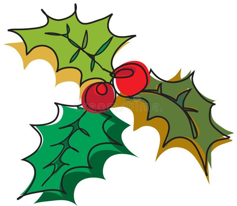 Decoração do Natal do visco ilustração royalty free