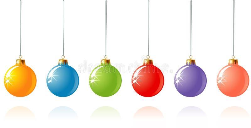 Decoração do Natal em cores diferentes/vetor ilustração do vetor
