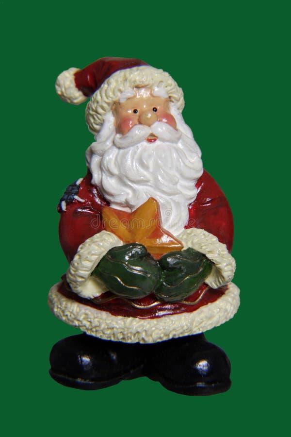Decoração do Natal, estatueta de Santa Claus fotos de stock