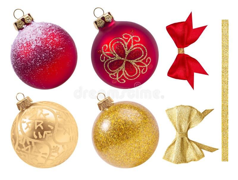 Decoração do Natal isolada no branco fotos de stock royalty free