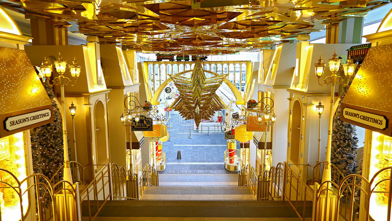 decoração do Natal na cidade do porto, Hong Kong fotos de stock