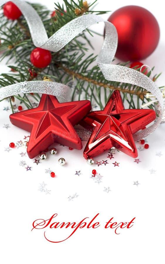 Decoração do Natal no branco foto de stock