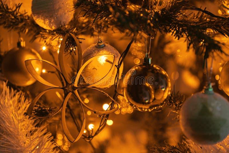 Decoração do Natal do ouro imagens de stock