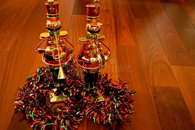Decoração do Natal - quebras-nozes fotografia de stock