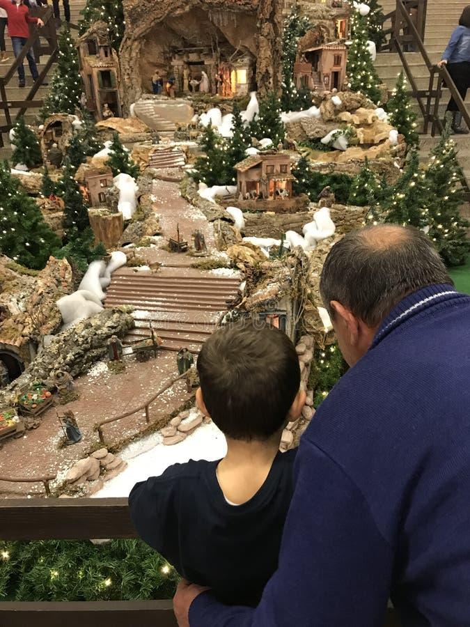 Decoração do Natal do shopping de Braganza imagem de stock