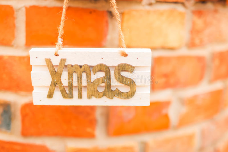 Decoração do Natal, sinal do Xmas imagens de stock