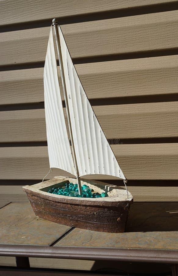 Decoração do pátio do veleiro fotografia de stock