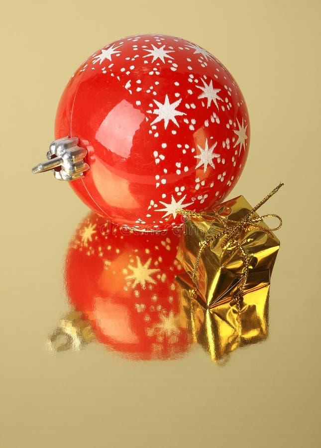 Decoração do presente e do Natal imagem de stock