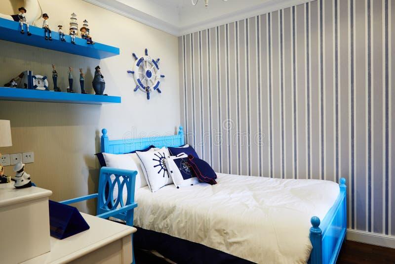 Decoração do quarto das crianças da casa de Morden fotografia de stock