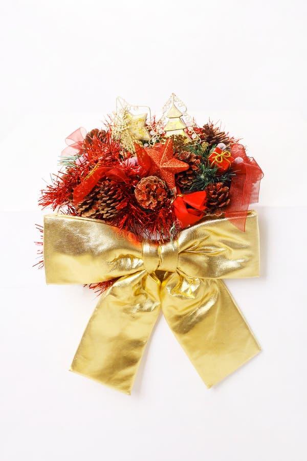Decoração do vermelho do Natal imagens de stock