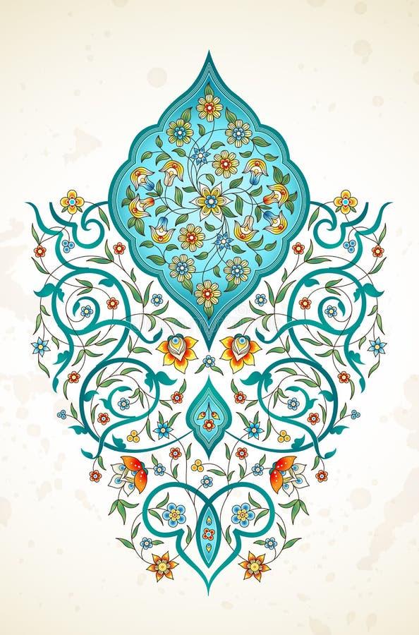 Decoração do vetor, arabesque no estilo oriental ilustração do vetor