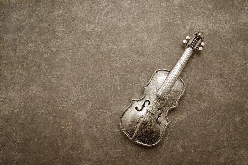 Decoração do violino do vintage fotos de stock