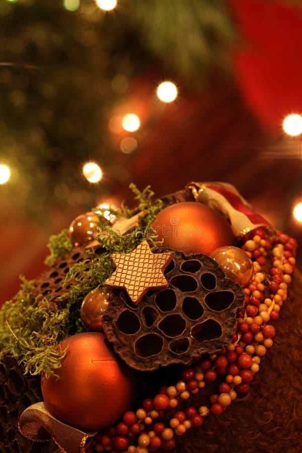Decoração elegante do Natal imagens de stock