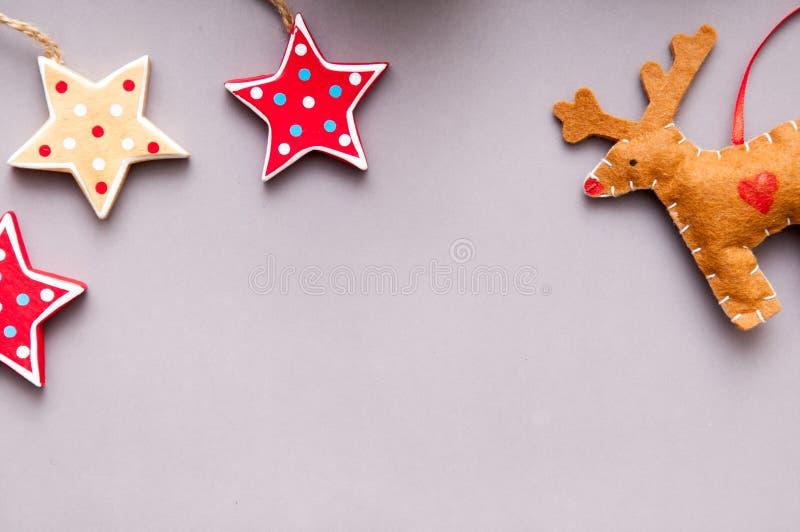 Decoração feito à mão do Natal para o backgr temático do Natal da criança imagens de stock