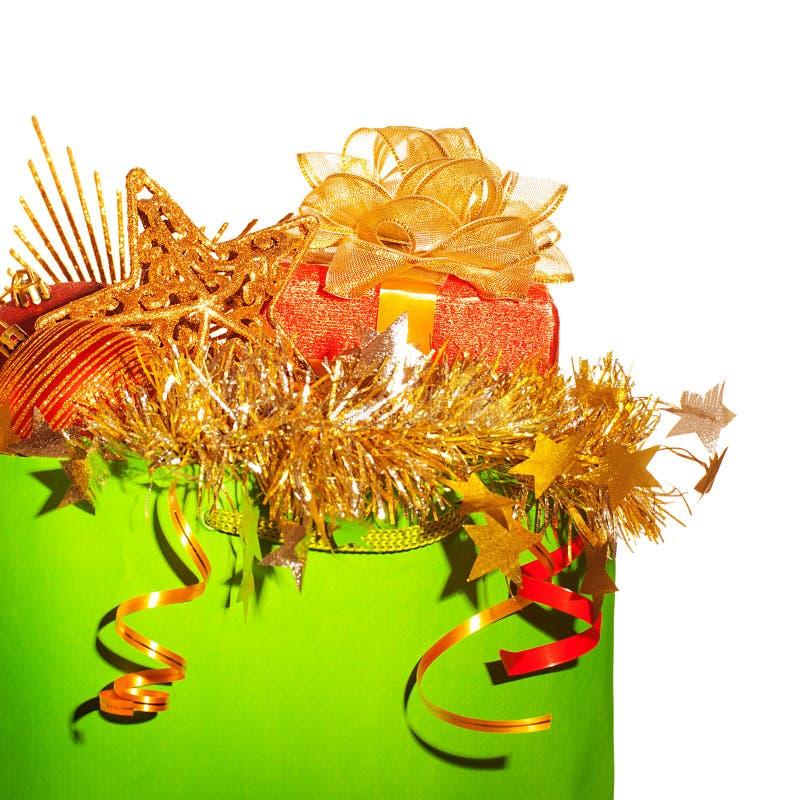 Decoração festiva do christmastime imagens de stock