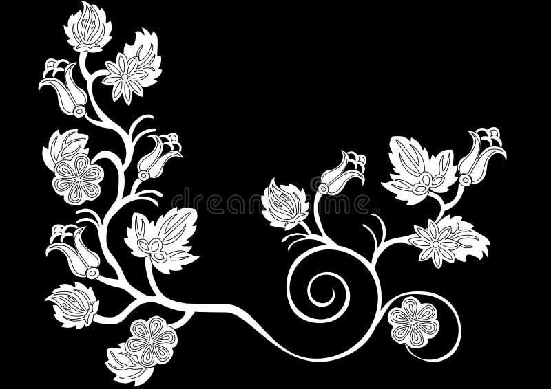 Decoração floral branca ilustração stock