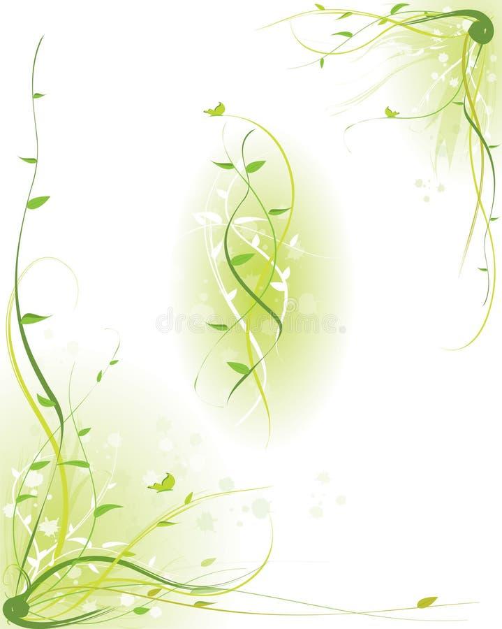 Decoração - grama verde ilustração stock