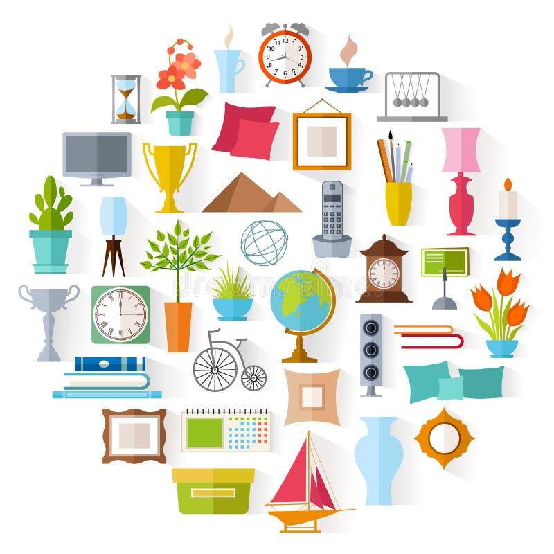 Download Decoração Home Do Vetor Design De Interiores Ilustração Do Vetor    Ilustração De Logo,