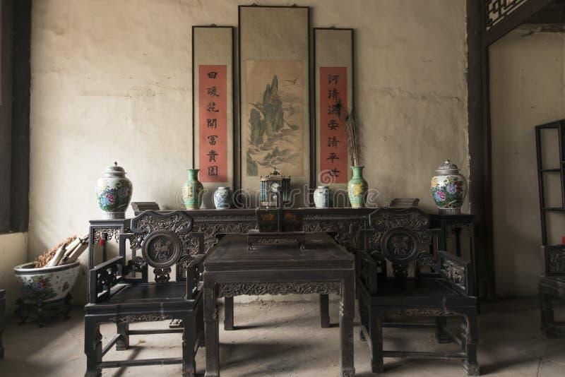 Decoração interior da arquitetura antiga fotografia de stock