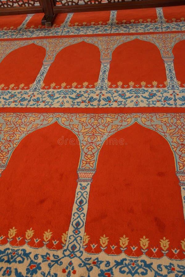 Decoração interior da mesquita de Suleymanie imagem de stock