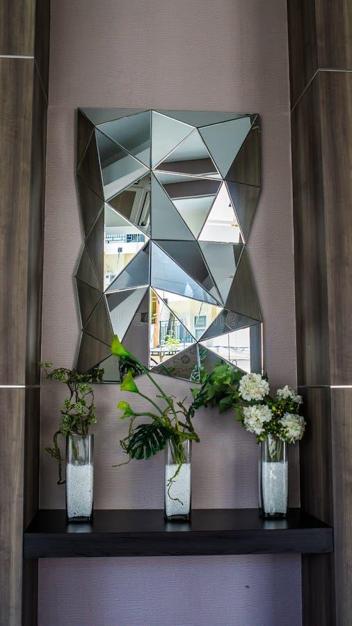 Decoração interior da sala moderna luxuosa fotografia de stock