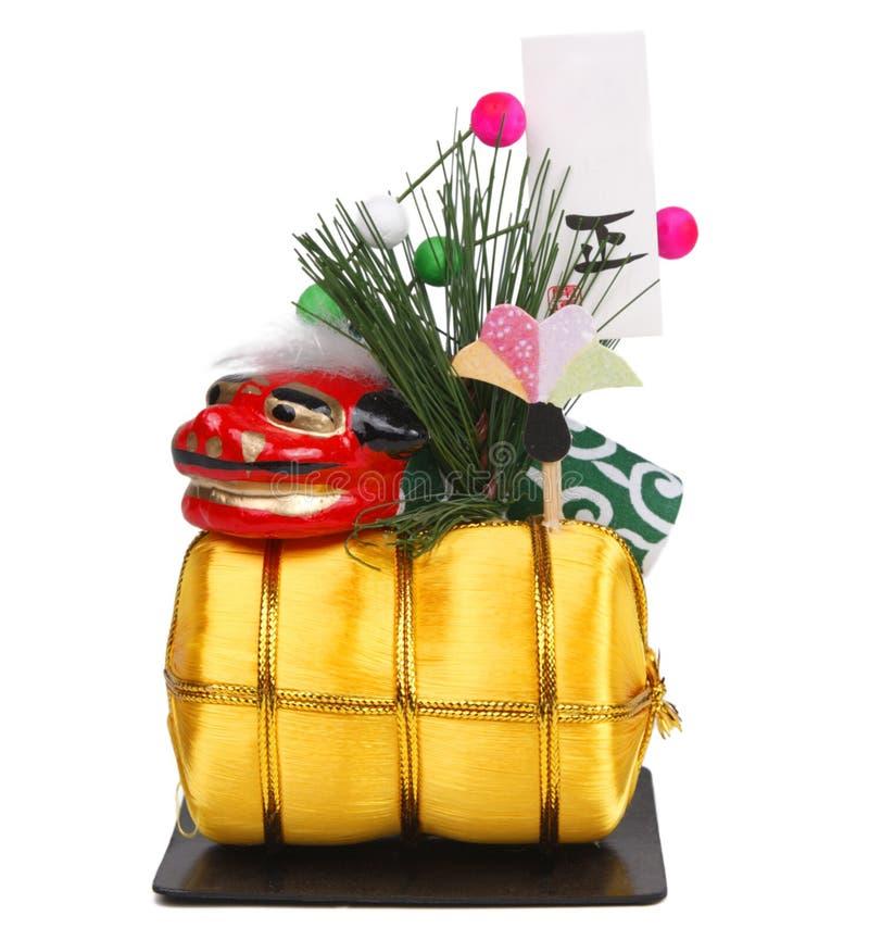 Decoração japonesa do ano novo foto de stock