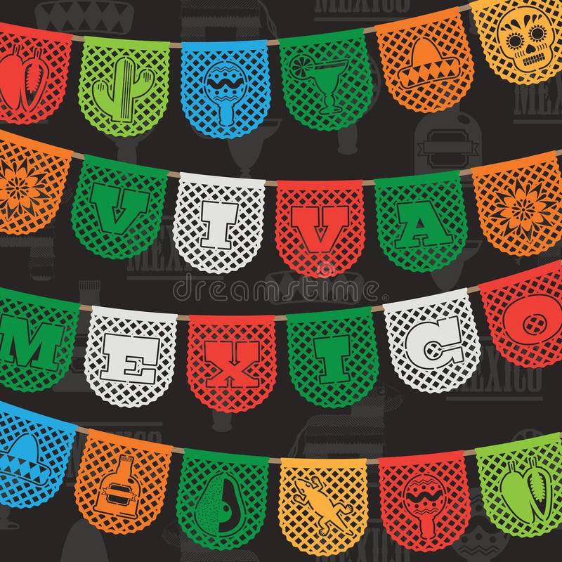 Decoração mexicana ilustração stock