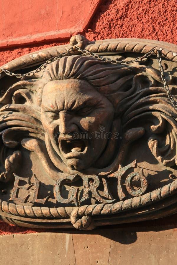"""decoração mexicana do metal da parede do  de Grito de Dolores†do """"El em um Sun fotografia de stock royalty free"""
